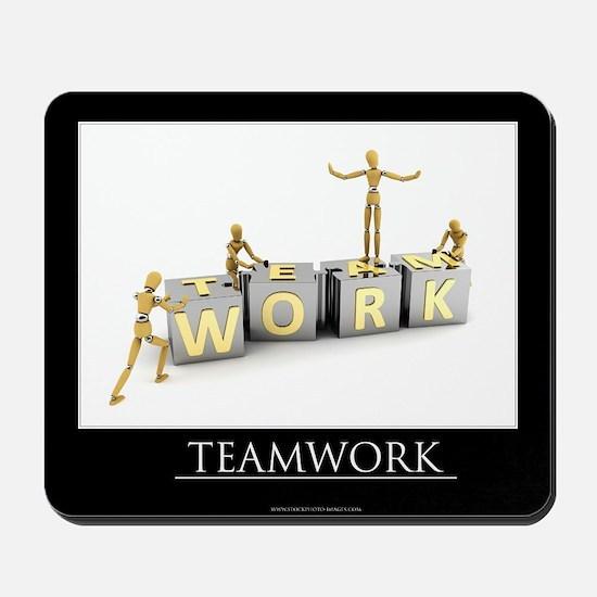 Teamwork motivational poster Mousepad