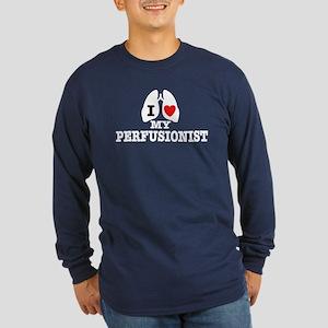 I Love My Perfusionist Long Sleeve Dark T-Shirt