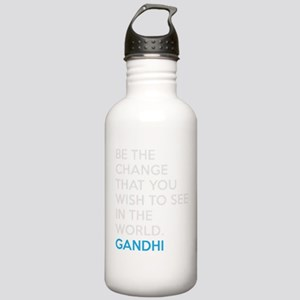 Be the Change Gandhi Quote Stainless Water Bottle