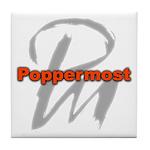Poppermost Pm Tile Coaster 4.25x4.25