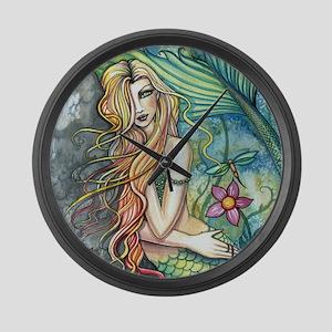 Colorful Mermaid Large Wall Clock