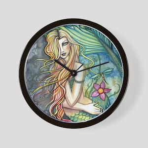 Colorful Mermaid Wall Clock