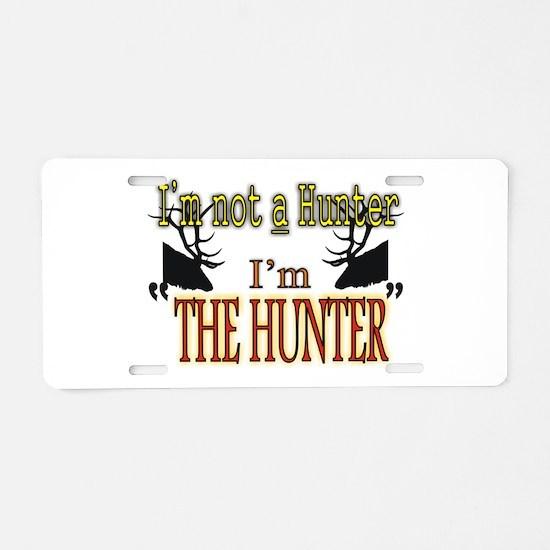 The Hunter Aluminum License Plate