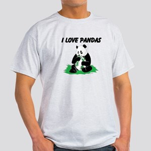 Hungry Panda Bear Light T-Shirt