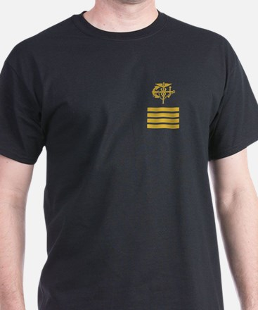 USPHS Captain <BR>Black T-Shirt 2