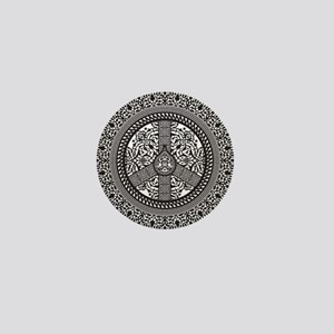 Peace Arabesque Mini Button
