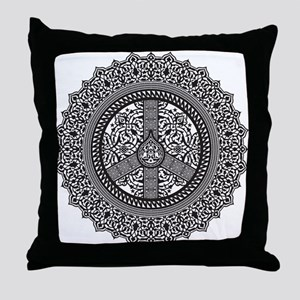 Peace Arabesque Throw Pillow