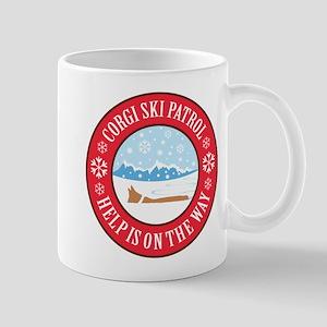 Corgi Ski Patrol Mug