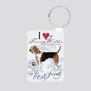 Treeing Walker Aluminum Photo Keychain