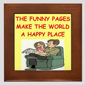 the funny pages Framed Tile