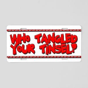 Tangled Tinsel Aluminum License Plate