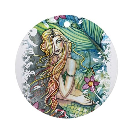 Colorful Mermaid Ornament (Round)