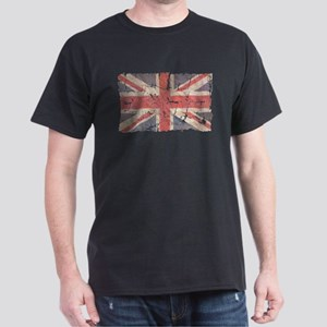 UK Flag Distressed Dark T-Shirt