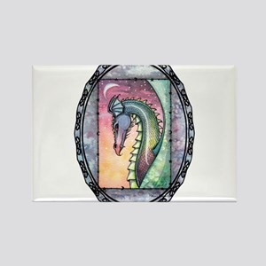 Colorful Dragon Rectangle Magnet