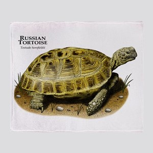 Russian Tortoise Throw Blanket