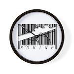 Barcode Rowing Wall Clock