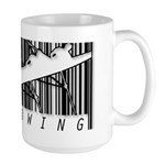 Barcode Rowing Large Mug