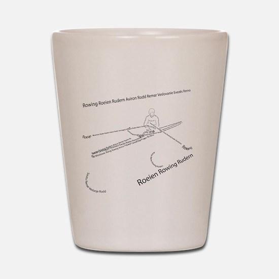 International Rowing Shot Glass