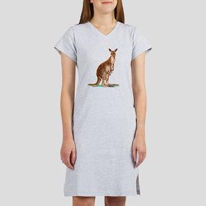 Western Gray Kangaroo Women's Nightshirt