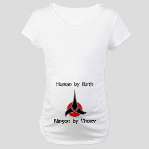 Klingon by Choice Maternity T-Shirt
