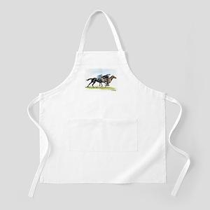 Horse race watercolor Apron