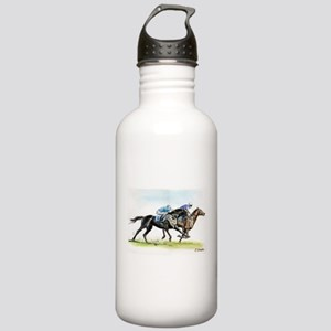 Horse race watercolor Stainless Water Bottle 1.0L