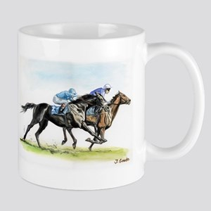 Horse race watercolor Mug