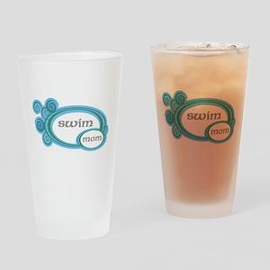 Swim Mom Swirl Drinking Glass
