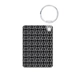 Skull and Crossbone Aluminum Photo Keychain