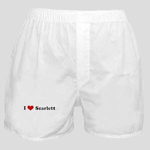 I Love Scarlett Boxer Shorts