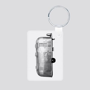 Airstream Trailer Aluminum Photo Keychain