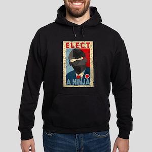Elect A Ninja, Funny, Hoodie (dark)