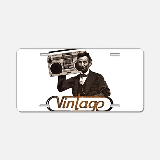 BOOMBOX ABE LINCOLN Aluminum License Plate