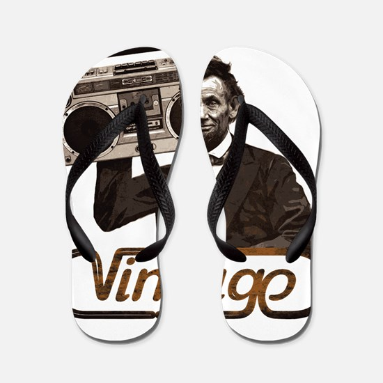 BOOMBOX ABE LINCOLN Flip Flops