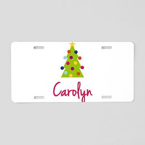 Christmas Tree Carolyn Aluminum License Plate