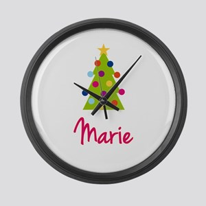 Christmas Tree Marie Large Wall Clock