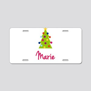 Christmas Tree Marie Aluminum License Plate