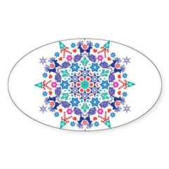 Merry Christmas 2011 Sticker (Oval 10 pk)