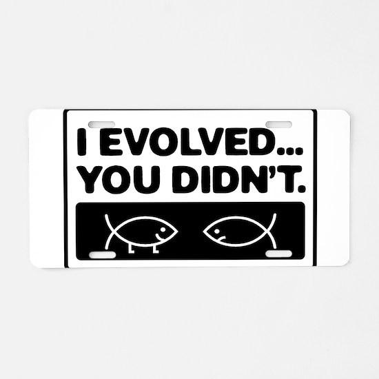 Funny Anti intelligent design Aluminum License Plate