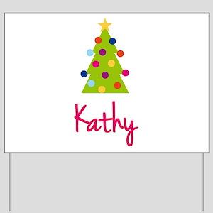 Christmas Tree Kathy Yard Sign