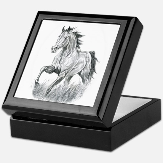 Arabian horse drawing Keepsake Box