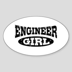 Engineer Girl Sticker (Oval)