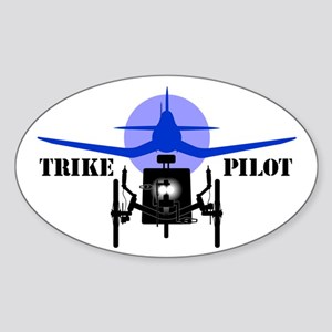 Trike Pilot Sticker (Oval)