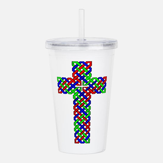 Celtic Cross Acrylic Double-Wall Tumbler