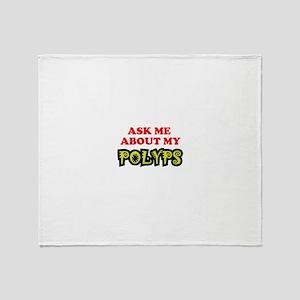 Polyps 02 Throw Blanket