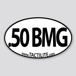 .50 BMG Euro Style Sticker (Oval)