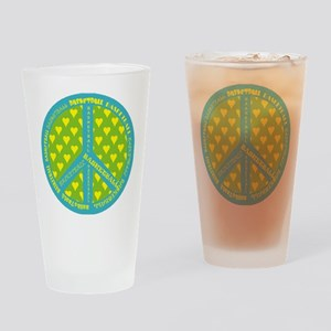 Basketball Peace Sign Drinking Glass