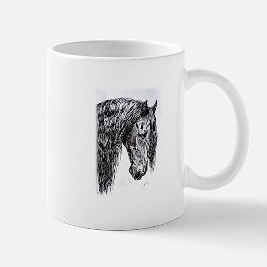 Frisian horse drawing Mug