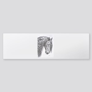 Frisian horse drawing Sticker (Bumper)
