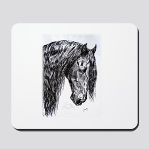 Frisian horse drawing Mousepad